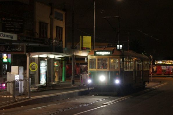 When was the last time a W class tram visited Footscray?