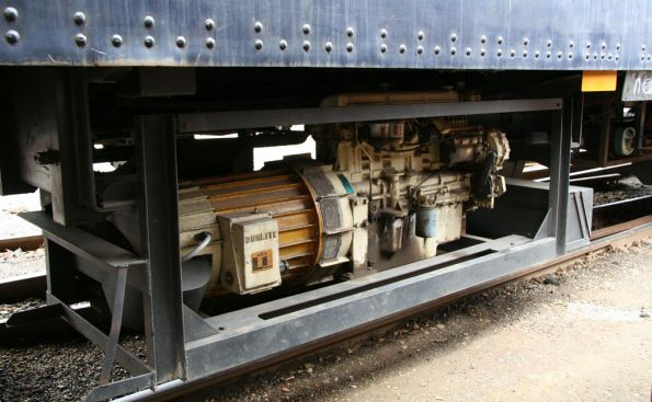 Diesel genset underneath S car 'Mita Mitta'