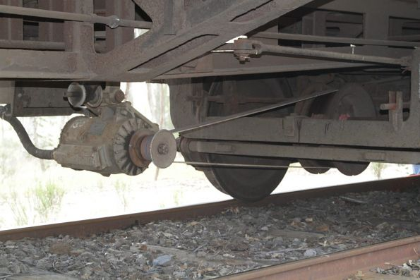 Axle driven generator on ex-SAR carriage 600 BK