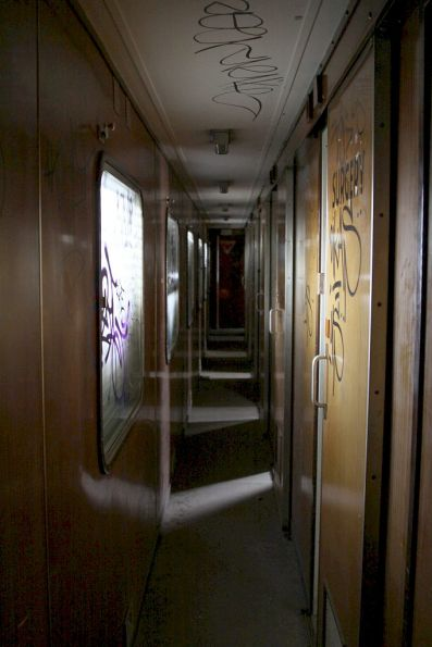 Looking down the corridor of Wegmann carriage OWA91