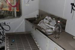 Kitchenette compartment inside Wegmann carriage OWA91