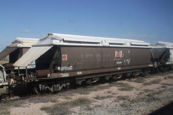 Aurizon grain hopper VGHM 37704 stabled in the yard at Ayr