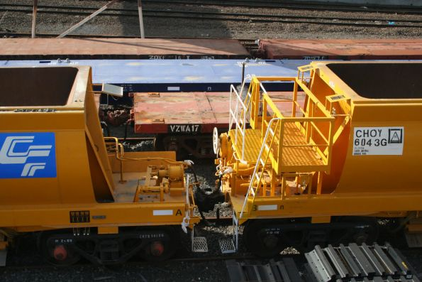 Side view of the B end operators platform