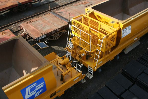 Top view of the B end operators platform