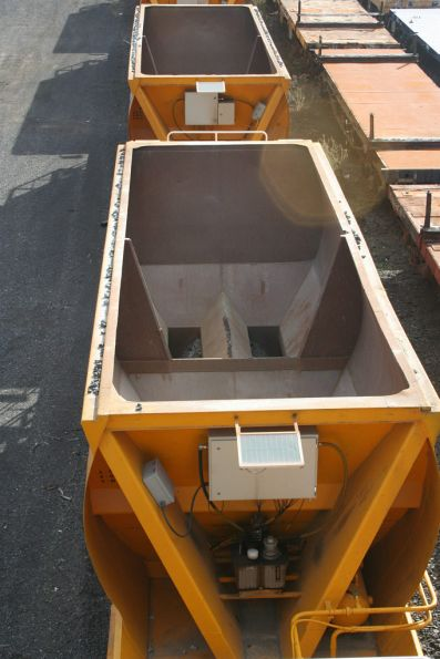 Top view into the hopper, A ends facing this way