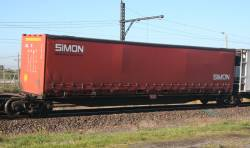 Simon National Carriers 40 foot curtain side container