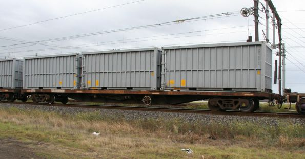 New 20 foot HMS scrap steel containers, as used on SG steel trains