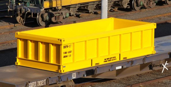 20 foot spoil containers for MTM suburban works train