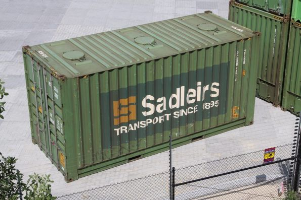 Sadleirs 20 foot RCSB container with roof hatches