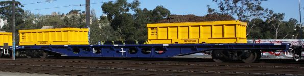 CQOY 2393P with loaded spoil containers on a Metro works train