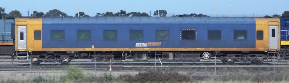 Pacific National BRS 225 at the Adelaide Freight Terminal, an ex-VR riveted bodied BS carriage