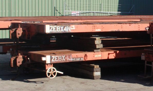 ZEBX 4N and ZEBX 1J stored off bogies