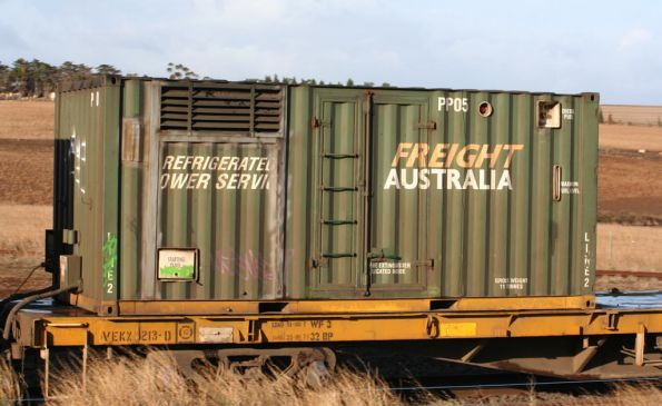 Power pack container PP05 on the PN Mildura freight
