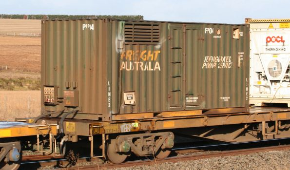 Power pack container PP04 on the PN Mildura freight