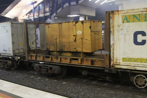 Containerised genset on the Qube operated Tocumwal freight