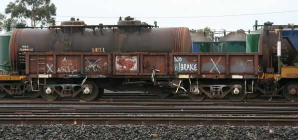 A long way from Kansas (or NSW) - NOFF 70004 T at North Geelong Yard, was to be converted into a shunters float for PN