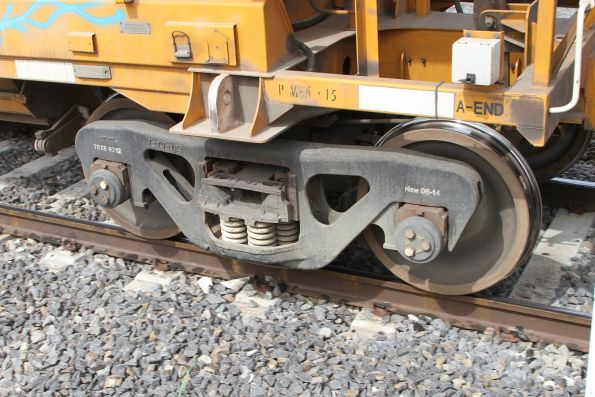 Bogie beneath a PHAY hopper wagon - coded TRXE0212