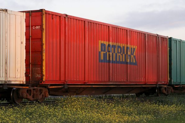 Patrick car container on a RRYY wagon