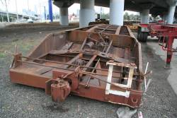 QB well wagon (recoded to ZWAY 10) minus bogies and upturned for storage