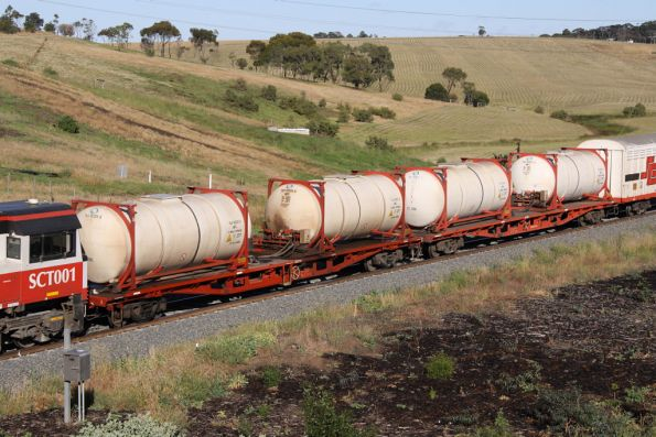 An extra PQFY fuel tanker wagon in the consist makes two
