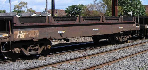RCSF 59T coil steel wagon eastbound for Melbourne