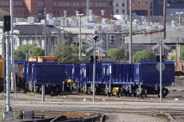 Refurbished wagons at the Melbourne Steel Terminal - possibly RKGF?