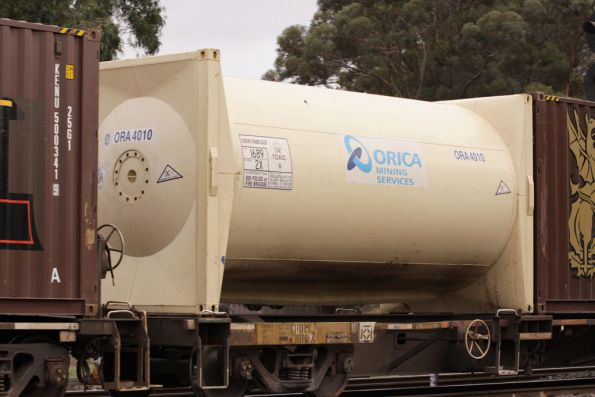 Orica Mining Services carrying Sodium Cyanide Solid