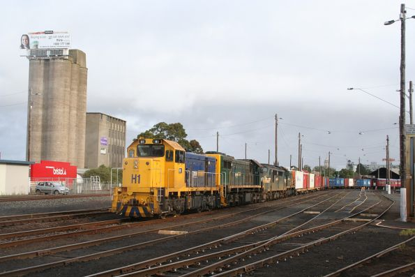 H1, X39, A81 and T388 shut down at Geelong, off the up Warrnambool freight, shut down there since that morning