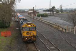 G527 runs through the remains of the goods yard at Colac