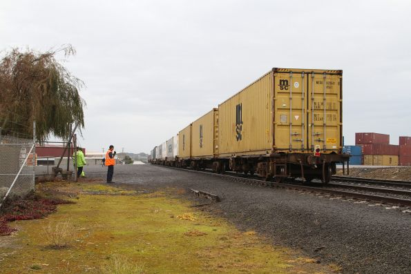 Train arrives complete at the Westvic container terminal