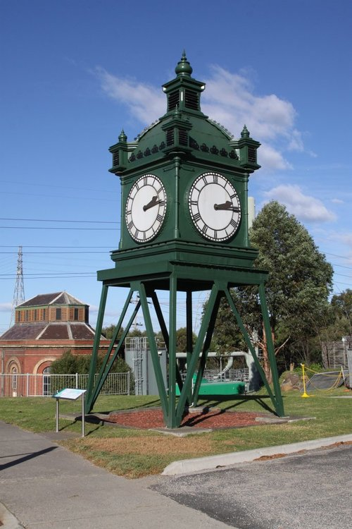 The 'Water Tower Clock' that once lived at Flinders Street Station's original clock