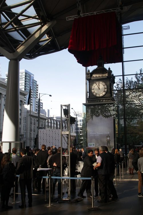 Official unveiling of the restored Water Tower Clock