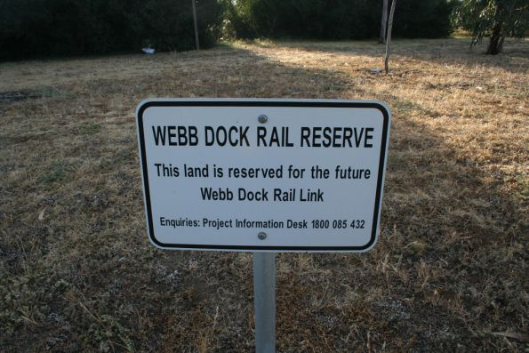 Sign marking possible future use