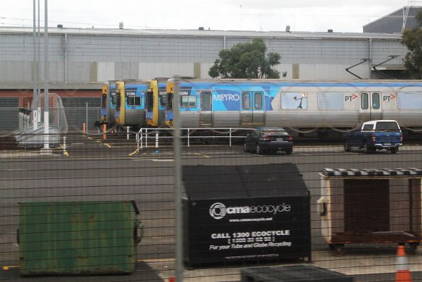 Comeng trains 594M, 519M, 382M and 652M stabled at Westall