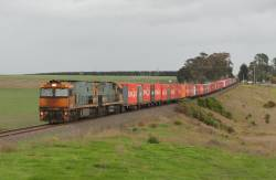 NR90 and NR34 head for Melbourne at Moorabool