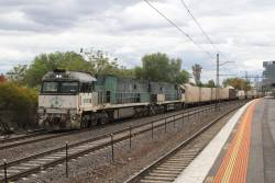 Southern Spirit liveried NR85 and 84 westbound at Middle Footscray on MP4