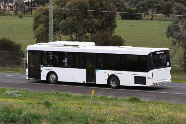 Plain white liveried Westrans bus #108 6039AO in Deer Park on a route 400 service bound for the prisons