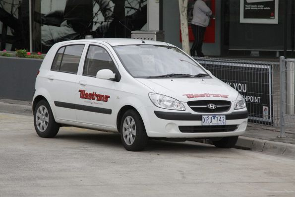 Hyundai Getz serving as a driver changeover car for Westrans at Highpoint Shopping Centre