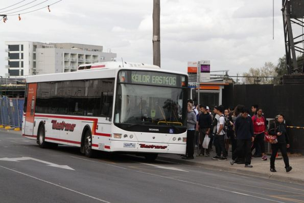 Westrans #68 rego 5499AO outside Footscray station on a route 406 service