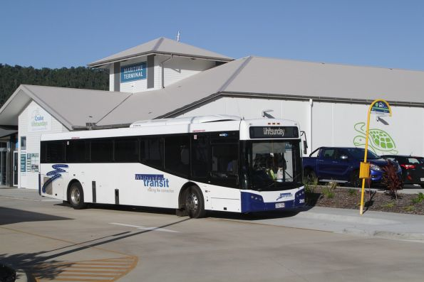 Whitsunday Transit #265 rego 252TRQ stops at the Port of Airlie