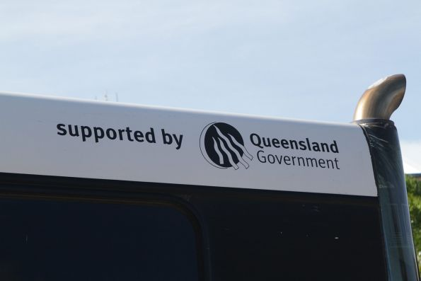 Everything in Queensland has a bloody 'Queensland Government' logo on it - even the buses!