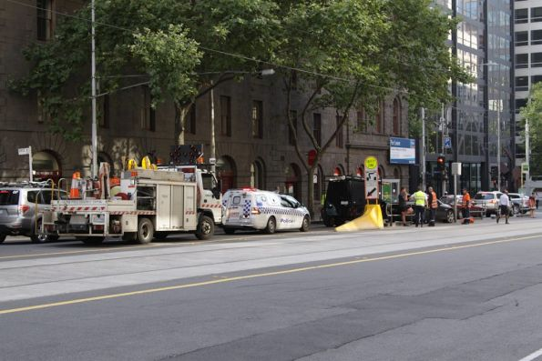William Street tram stop crash
