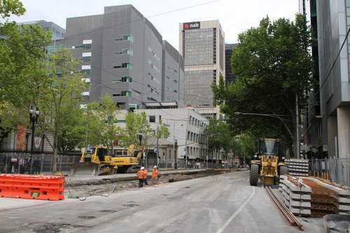 Tracks all removed from outside Flagstaff station