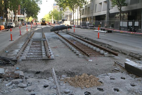 New track waiting to be completed south over Lonsdale Street