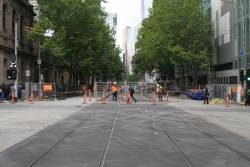 Track relaid across Lonsdale Street