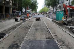 Track relaid north of Lonsdale Street