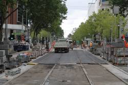 Track almost complete north of Lonsdale Street
