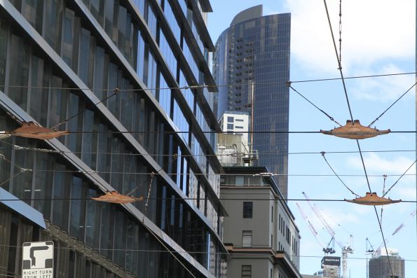 New overhead crossover at William and Collins Street
