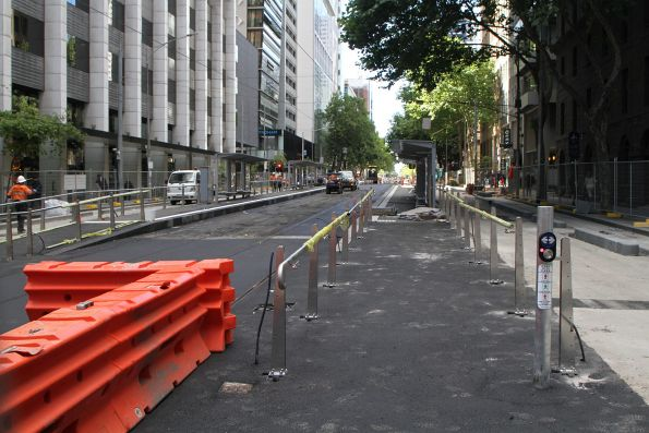 New Bourke Street tram stop taking shape on William Street