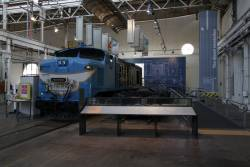 QR diesel locomotive 1262 cut open and put on display
